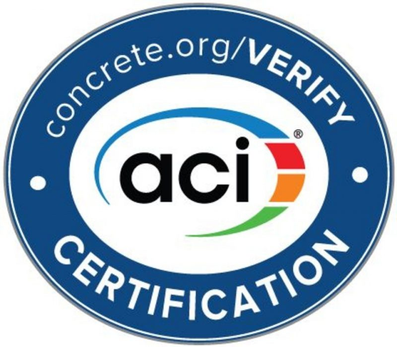 ACI Certification Seal