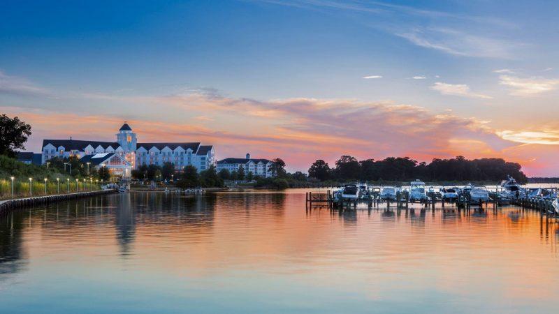 Hyatt Regency Chesapeake Bay Golf Resort Spa and Marina P210 Resort at Sunset 16x9 adapt 1920 1080
